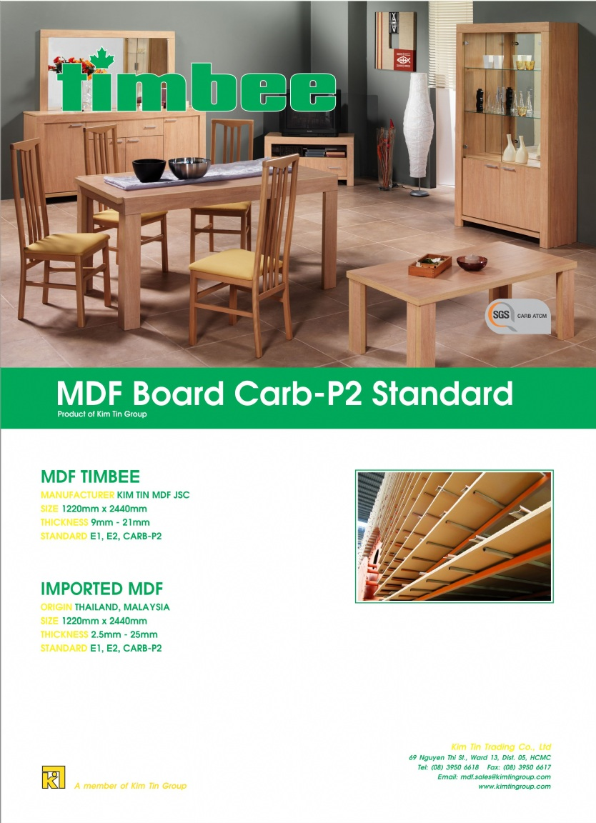 Asia Machinery net - E-brochures - MDF TIMBEE CARB-P2 STANDARD